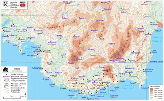Karte Lykien